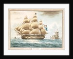 HMS 'Victory' off Belem Castle by Thomas Buttersworth