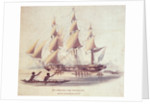 His Majesty's ship 'Blossom' off the Sandwich Islands by William Smyth