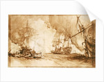 Study for the painting of Bombardment of Algiers, 1816 by George Chambers