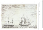 Frigate and paddle steamer by Daniel England