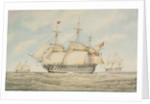 HMS 'Hibernia' by Humphrey J. Julian
