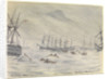 21 July 1841, HMS 'Rattlesnake', Typhoon in Hong Kong Harbour by Edward Hodges Cree