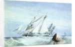 'Nymph'. Yacht belonging to Lord Harborough, 1834 by Richard Calvert Jones