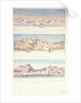 Three watercolours of Muscat by Charles Hamilton Smith