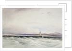 The survey ship HMS 'Beagle' running into Berkeley Sound, Falkland Islands by Conrad Martens
