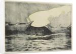 Seascape - very rough grey sea 2 by Herbert Barnard John Everett