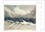 Seascape - pale blue breakers 5 'The Rainbow' by John Everett