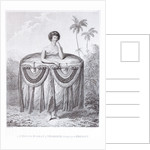 A young woman of Otaheite, bringing a present by John Webber