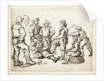 Six fishermen and a boy by Willem van de Velde the Elder