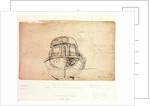 Sketch plan of the stern by Willem Van de Velde the Younger