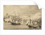 The capture of Tobago? by Willem Van de Velde the Younger