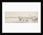 Pinks hauled up on the shore by Willem van de Velde the Elder