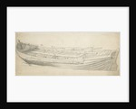 Study of a ship's barge by Willem van de Velde the Elder