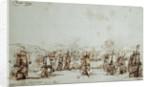 The action at Vigo, 12/23 October 1702 by Willem Van de Velde the Younger