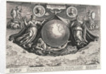 Americae Retectio (The Globe showing America, Africa and Europe and a panorama of Europe also portraits of Christopher Columbus and Amerigo Vespucci) by Johannes Stradanus