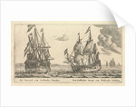 The Dutch ships 'Paerrel' and 'Dubbelen Arent' by Reinier Nooms
