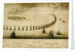 The English Navy running before the Vly, 1666 by Wenceslaus Hollar