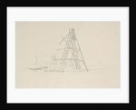 Slough. The 40ft reflector in process of demolition by John Frederick William Herschel