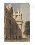 The eastern side of the Queen Anne Court, Greenwich Hospital by David Cox Junior