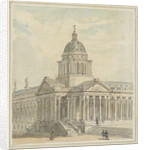 Greenwich Hospital: A design for remodelling the north-west (Chapel) corner of the Queen Mary Court by Augustus Charles Pugin