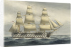 HMS Victoria Last of the sea going 3 deckers. Paid off at Portsmouth from Mediterranean Oct 1867 by W. Mackenzie Thomson