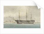 HMS 'Victory' on which Nelson died. Portsmouth by W. Mackenzie Thomson