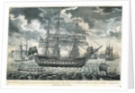 A view of the man-of-war 'Queen Charlotte', 100 guns, laying at Spithead by John Fairburn