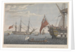 Transfer of Bonaparte from the HMS 'Bellerophon' (1786) to the HMS 'Northumberland' (1798) August 8, 1815 by Baugean
