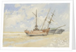 The lightship 'Cockle' near Great Yarmouth, circa 1890 by Nelson Dawson