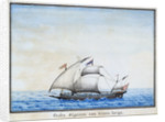 Algerian galley at sea by unknown
