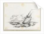 HM late sloop 'Julian' off Tristan da Cunha by C. W. Browne