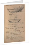Sketch of an Arab rowing boat with a boom by R.J. Clutterbuck