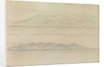 Sketch of a distant view of part of the Sierra Nevada and Cape Degatta by John Brett