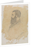 Portrait sketch of bearded man, inscribed 'Brinsley Norton' by John Brett