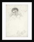 Unfinished portrait of a woman by John Brett