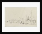 Shipping in the Thames at Greenwich (on reverse of sheet) by Nelson Dawson