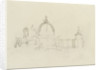Slight sketch of Santa Maria della Salute and the Dogana, Venice by Nelson Dawson