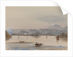 HMS 'Tribune's' galley 'Feeling the way off Chuenpee Canton River 1858' by Harry Edmund Edgell