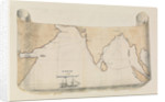 Illustrated map of the track of the 'Retribution' by Harry Edmund Edgell