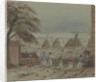 Canton. View from inside a fort showing guards looking out over sea with a pagoda on a small island by Harry Edmund Edgell