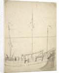 Portrait of a fishing buss by Willem Van de Velde the Younger