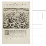 Willem Barents' voyage, May 1597. Rebuilding and strengthening the boat by Johannus Theodorus de Bry