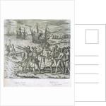 Christopher Columbus landing in 1492. Bahamas (Watling Island) by Gottfried