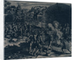 Virginia, 1607. Capture of Captain John Smith and barbarous dances of his Indian captors by Gottfried