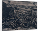 Indians slaughtering the English near Jamestown by Gottfried