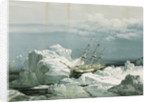 HMS 'Investigator' trapped in the ice on the north coast of Baring Island, 29 August 1851 by S. Gurney