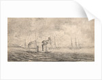 Sir John Franklin's expedition off Harwich and sketched from HMS 'Porcupine', May 1845 by unknown