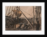 Getting out one of the large buoys for launching August 2nd. ('Great Eastern') by R. Dudley