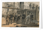 Searching for fault aboard the 'Great Eastern' after recovery of the cable from the bed of the Atlantic, 31 July 1865 by R. Dudley