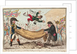 The - high - Flying Candidate, (i.e. Little Paul-Goose, ) mounting from a Blanket (Hood) by James Gillray